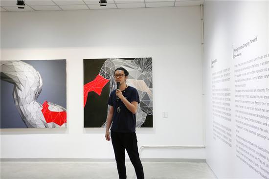 参展艺术家杨陆峰致辞