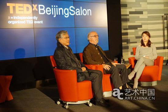 中国国家博物馆副馆长陈履生在现场讲话