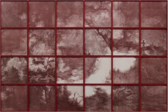 2017年 《红色风景》 铜版画 112x168cm 苏新平