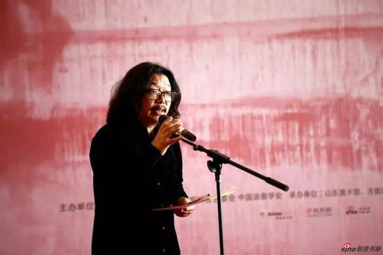 山东艺术学院副教授、策展人、批评家孙磊主持开幕式