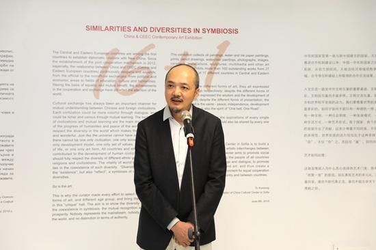 中国艺术家白明致辞