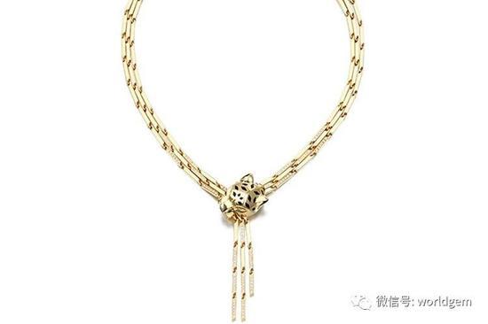 Panthere   沙弗莱及钻石项链