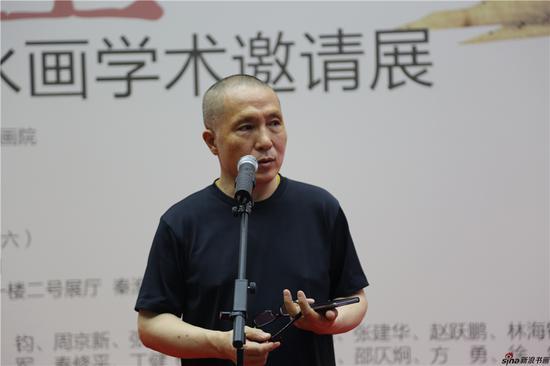 江苏省美协主席、江苏省国画院院长、南京艺术学院美术学院院长周京新致辞