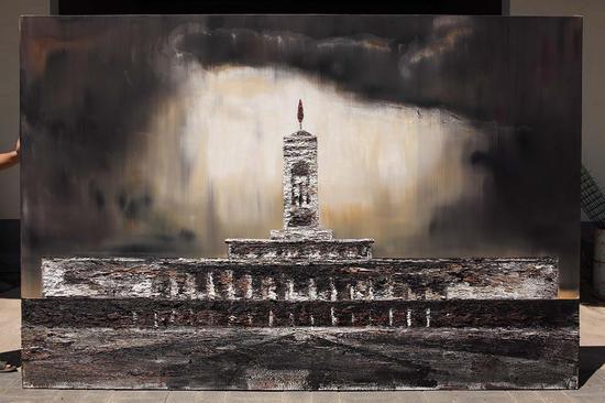 60《馆 2016.1》 200×300cm 布面油画 2016年 段江华