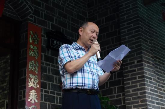 广安市文联主席童光辉致辞
