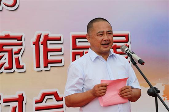 山东工艺美术家协会副会长、 西冶工坊董事长、总经理李志刚先生致辞
