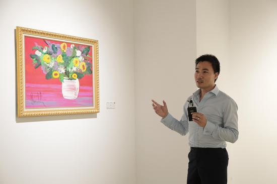 展览总监 普杰接受媒体采访