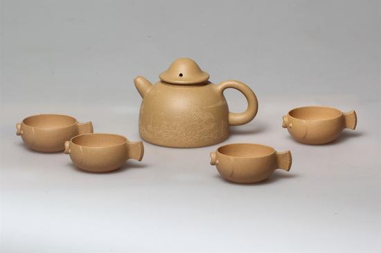 渔翁套壶 艺术家朱叶新作品