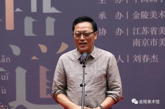 中国画学会副会长、江苏省中国画学会会长高云致辞