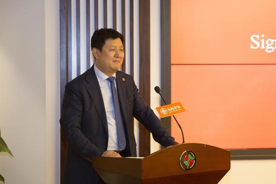 中国非遗保护协会副会长、永新华控股集团董事局主席李永军先生致辞