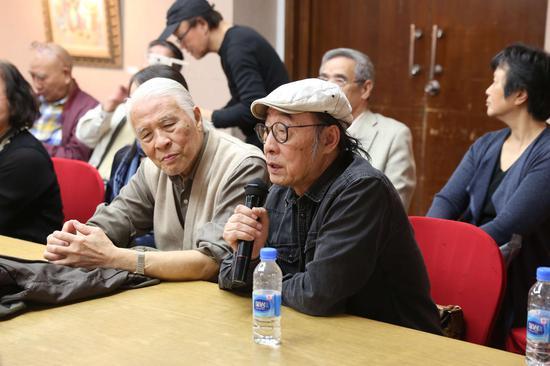 研讨会现场:艺术家张培础教授发言