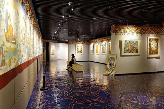 宝库艺术中心定期举办活动,图中为宝库《圣途》唐卡展,图片由宝库文化提供