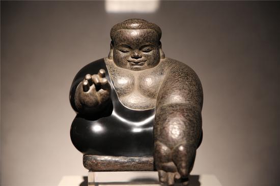 无量寿 Amitayus 22x22x25cm 铜雕 Bronze 1998