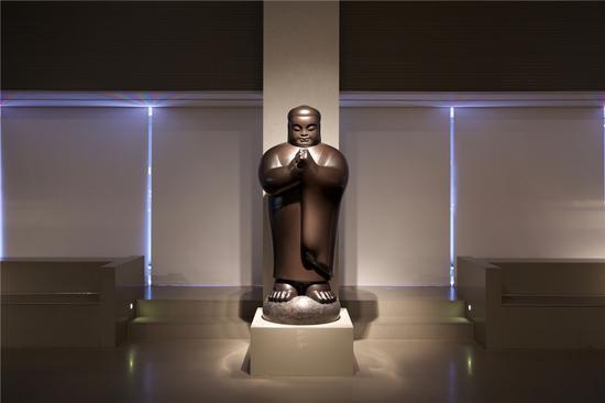 合十 All in One 80x81x189cm 铜雕 Bronze 1998
