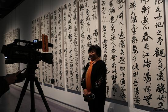 中国书法家协会顾问张改琴接受新浪书画采访