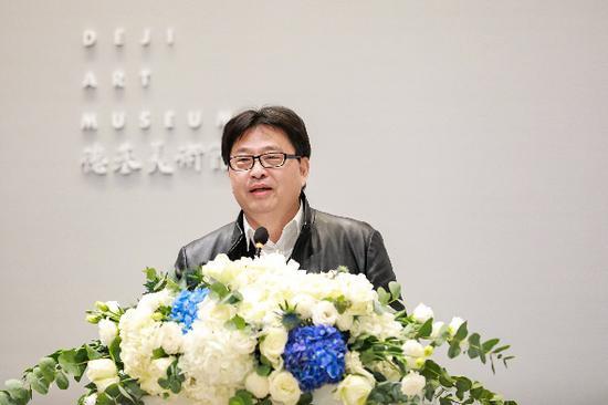 南京艺术学院院长刘伟冬开幕式发言 德基美术馆 供图