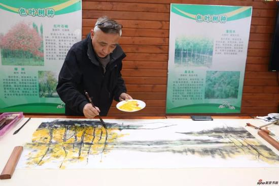 江苏省中国画学会副会长 周海歌现场创作
