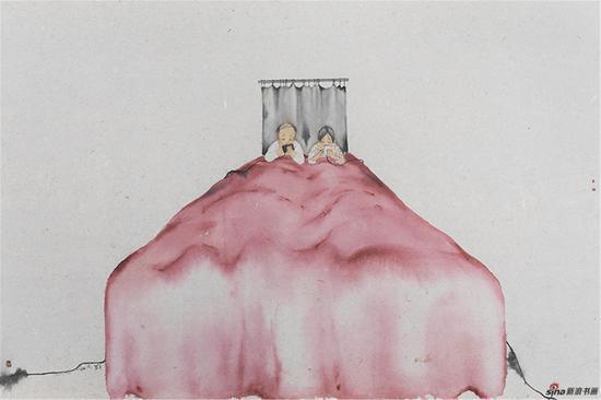 刘庆和 大床 150×220cm 2017 纸本水墨