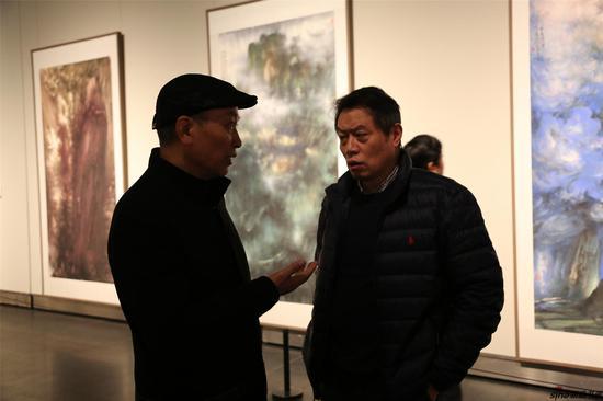 江苏省国画院专职画家徐建明、祁恩进