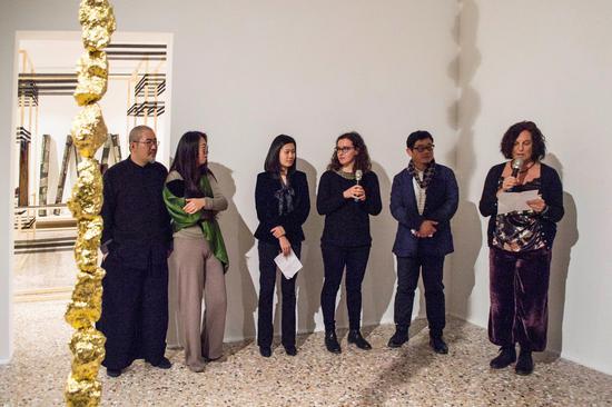 奎里尼·斯坦帕利亚基金会本项目负责人Babet Trevisan女士致开幕词