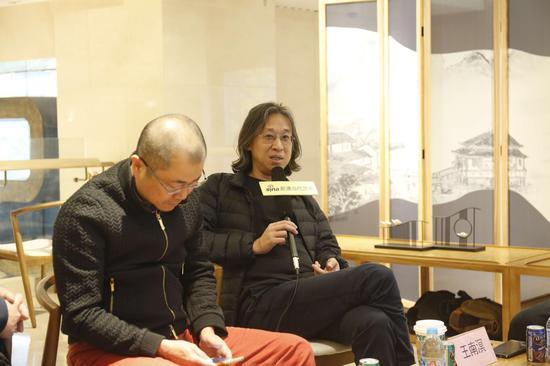 研讨会现场:艺术批评家王南溟发言