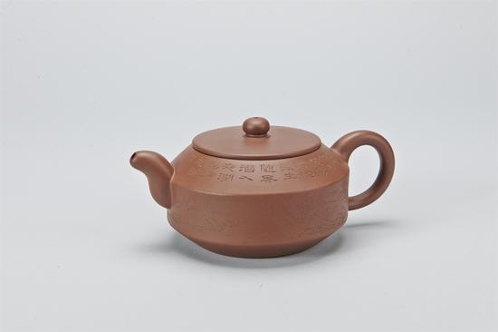 艺术家王小羚作品 汉君壶  泥料:清水泥  年代:2013  容量:380 CC