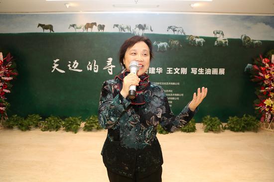北京视觉经典美术馆馆长吴华在开幕式致辞