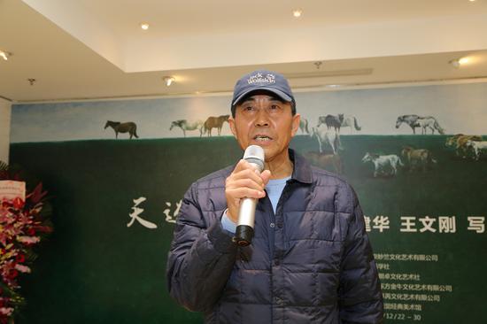 内地实力派男演员曹培昌在开幕式上致辞