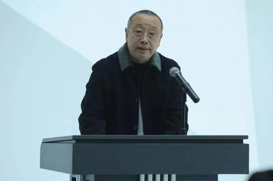 中央美术学院教授、中国艺术职业教育学会副会长兼秘书长孙伟致辞