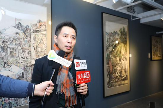 艺术家赵盼超博士接受媒体采访