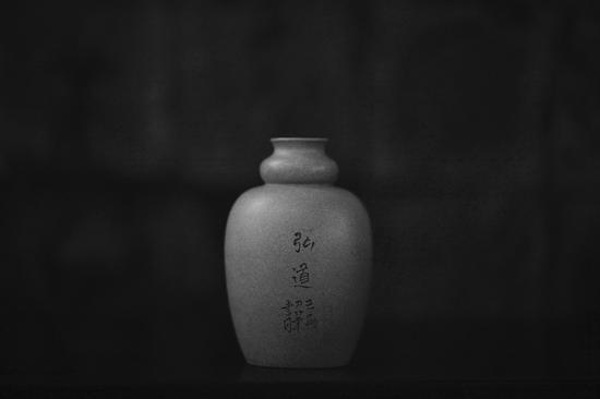 艺术家王翔作品 依样葫芦瓶 泥料:段泥 年代:2018 尺寸:11x5CM