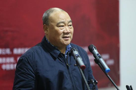 中国青绿山水画院常务副院长赵忠仁致辞
