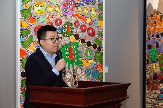 达美文化投资有限公司总经理张准先生发言