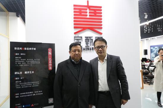 中国文化产业投资基金总经理陈杭和余丁合影