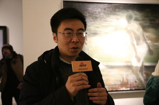 艺术家孙伟接受新浪当代采访