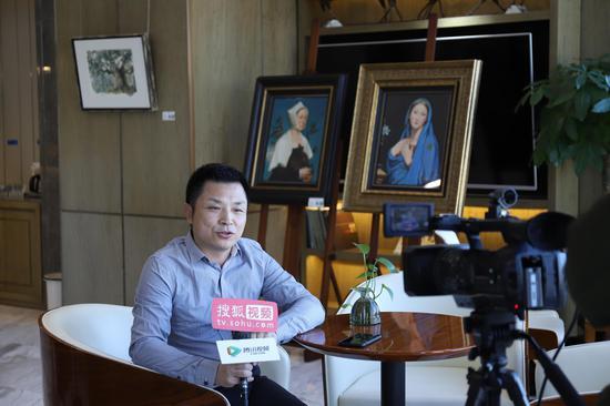 世鳌国际CEO刘天飚接收搜狐视频媒体采访