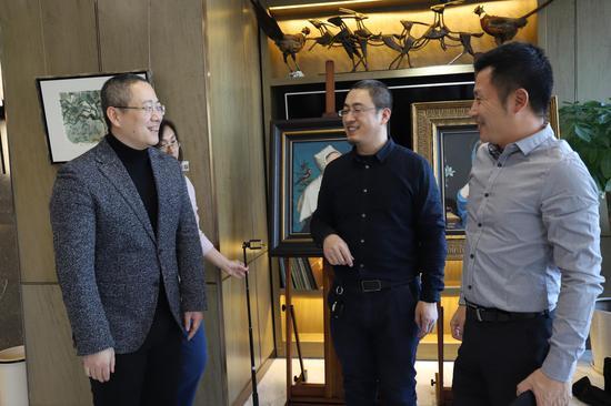 路昊教授、艺空间张雁枫、世鳌国际CEO刘天飚探讨艺术