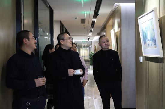 艺空间张雁枫、路昊教授、朱基力导师交流展览作品
