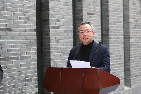 台州市文化和广电旅游体育局党组成员陈波先生致开幕词
