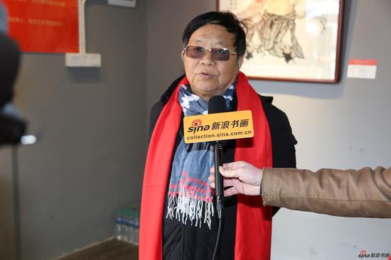 江西省中国画学会执行会长蔡超接受现场采访