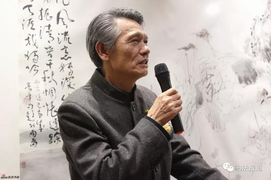 刘洪彪代表中国书协祝贺并讲话