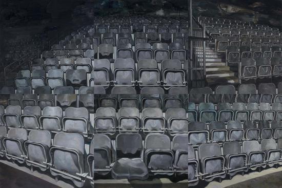 《剧场》布面油画  200x300cm   2016