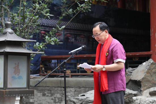 北京市诗词学会会长,原北京市人大常委会副秘书长李福祥致辞