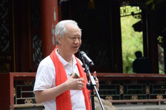 原首都博物馆艺术总监,北京市东城书法家协会副主席徐伟先生致辞