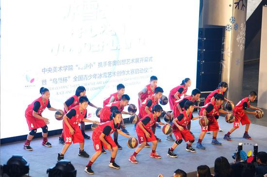 """明远教育书院实验小学""""篮球·阳光""""表演"""