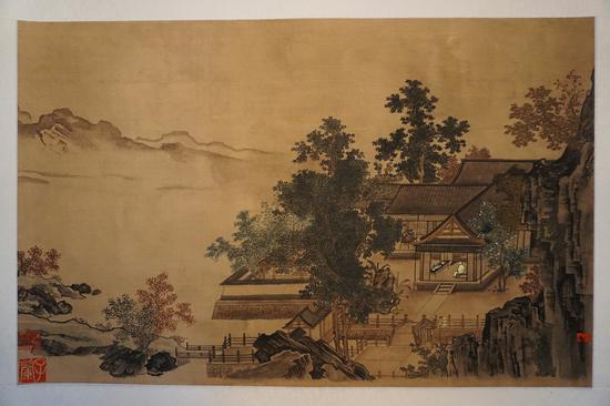 《四景山水图卷》之秋景