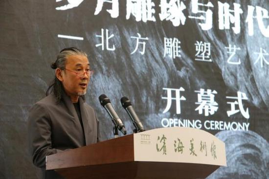 北方雕塑艺术展开幕式在天津举行