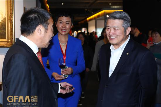 中国嘉德创始人、泰康保险集团创始人、董事长兼CEO陈东升先生参观GFAA2019