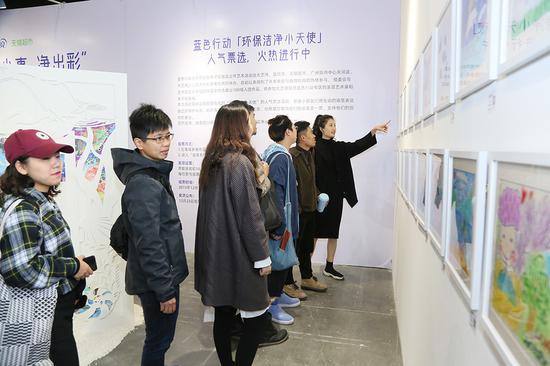 蓝色行动入围画作也也公共艺术展区特别展出