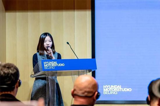 "Hyundai Blue Prize2018""创新未来(Sustainability)"" 获奖者龙星如在决赛现场演讲"